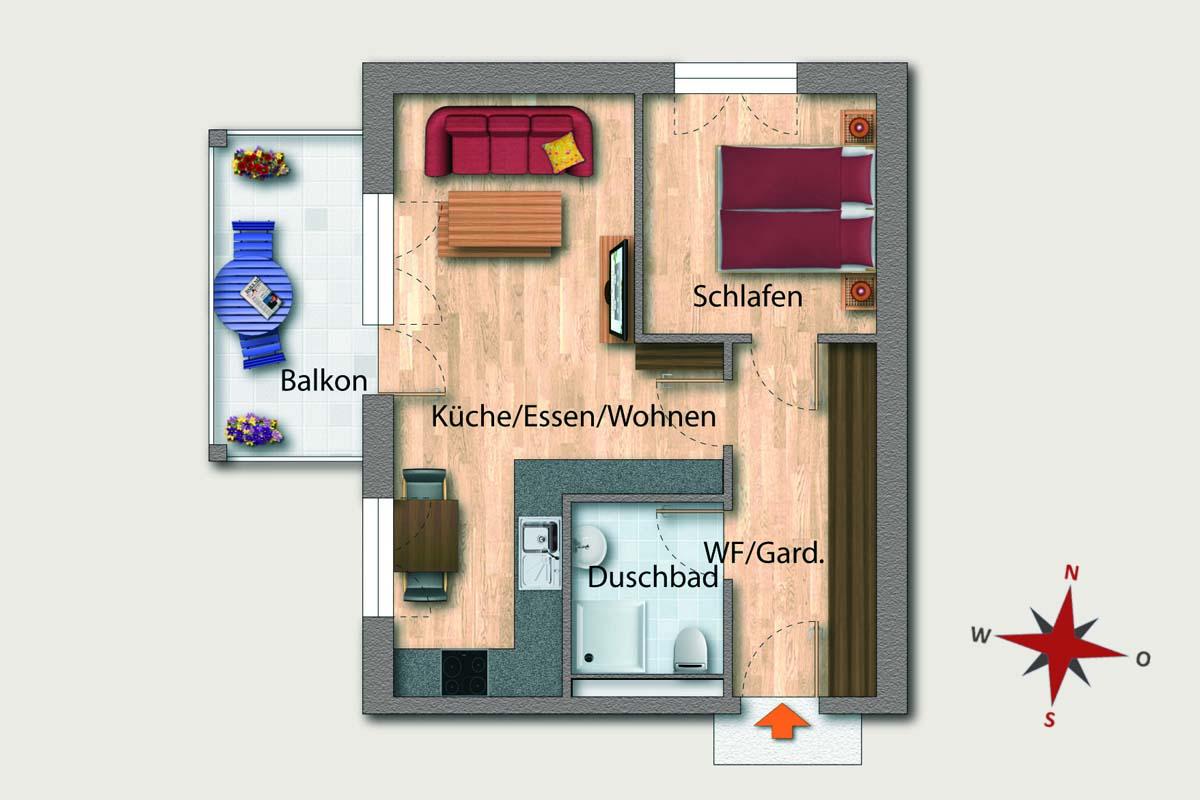 wohnen am tierpark 51 berlin wohnung 16. Black Bedroom Furniture Sets. Home Design Ideas
